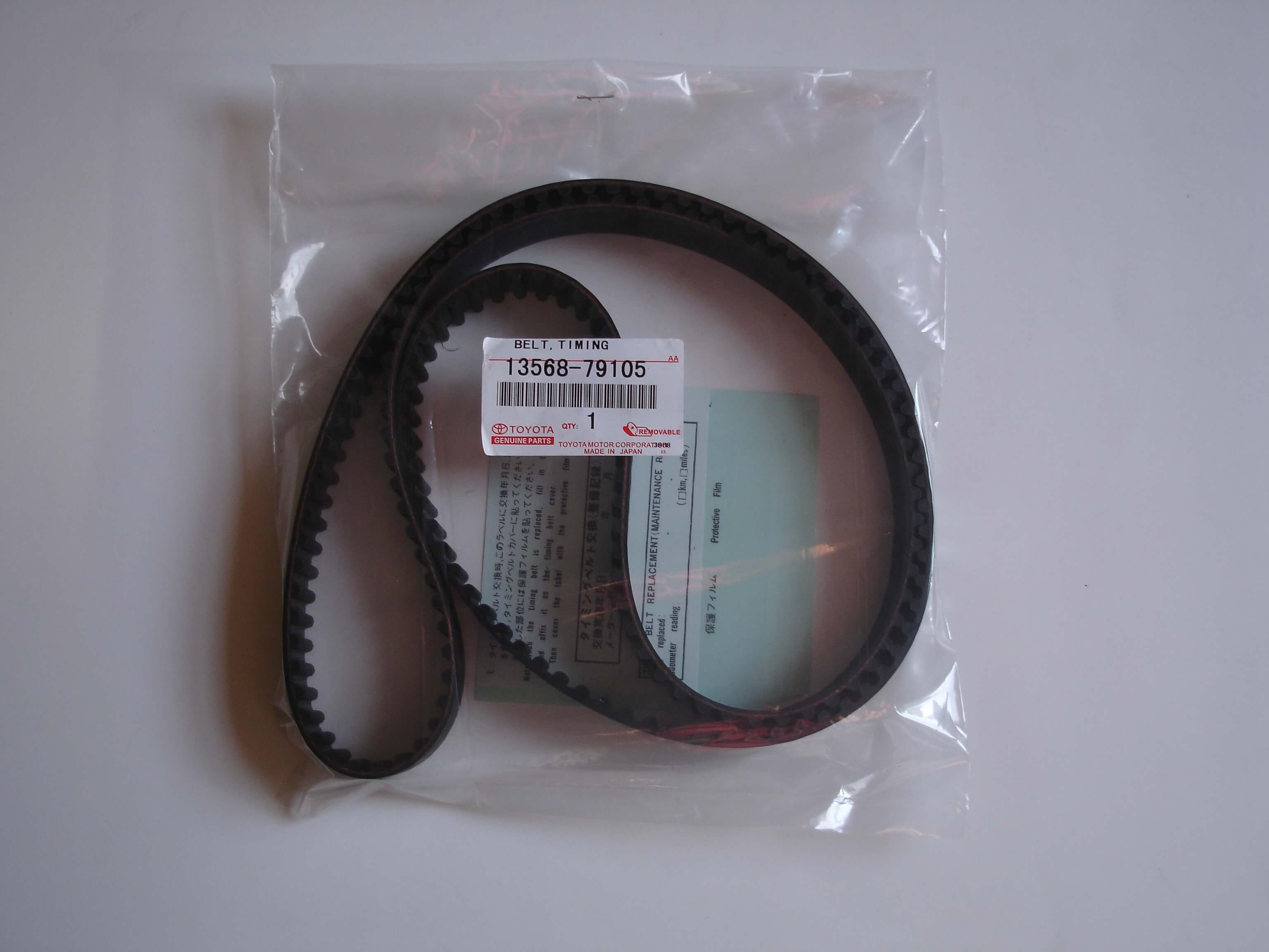 Toyota OEM Timing belt, 3SGTE 3RD GEN 13568-79105