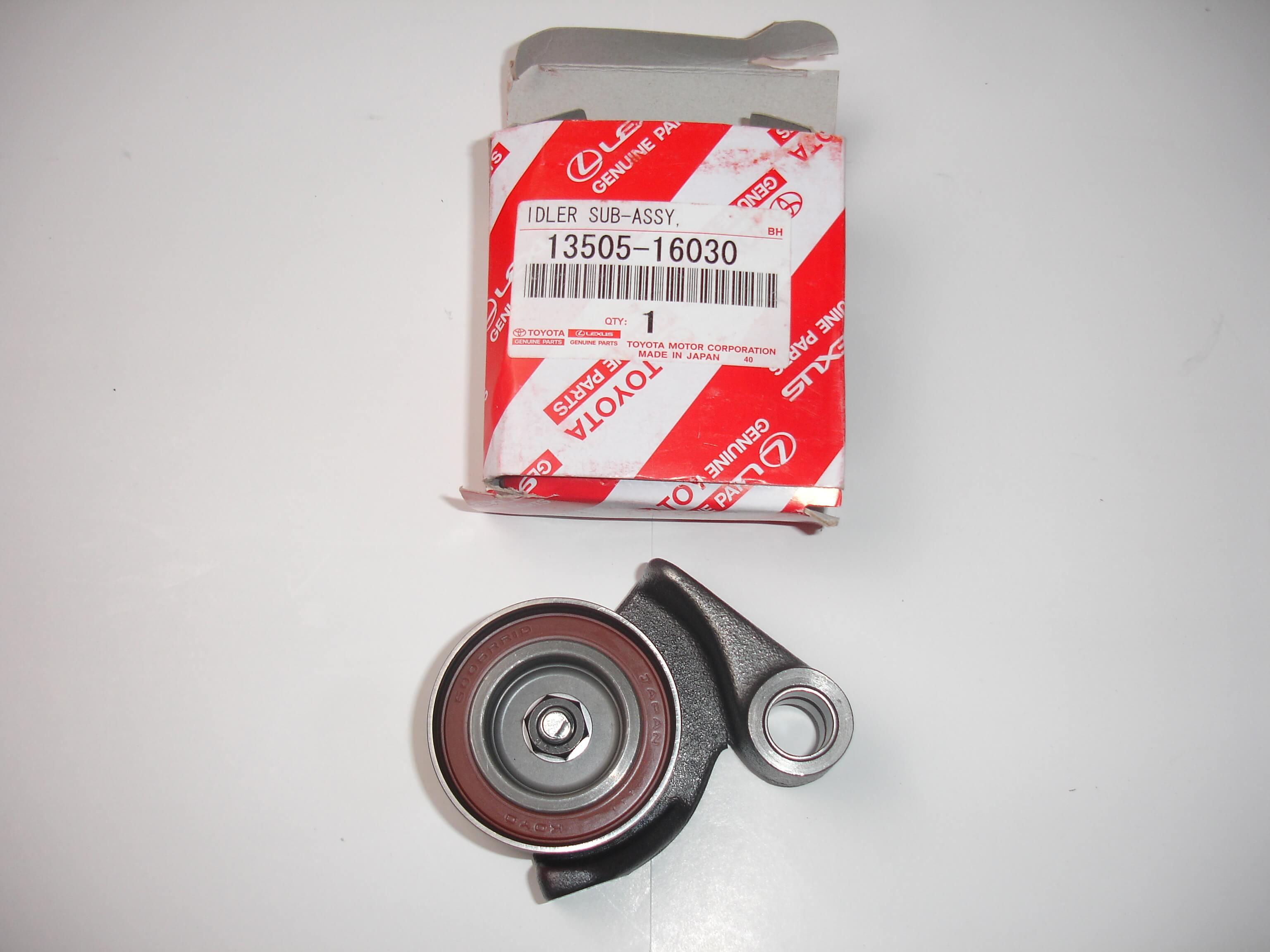 Toyota OEM 4AGE 20V Black Top Timing Belt Idler Pulley 13505-16030