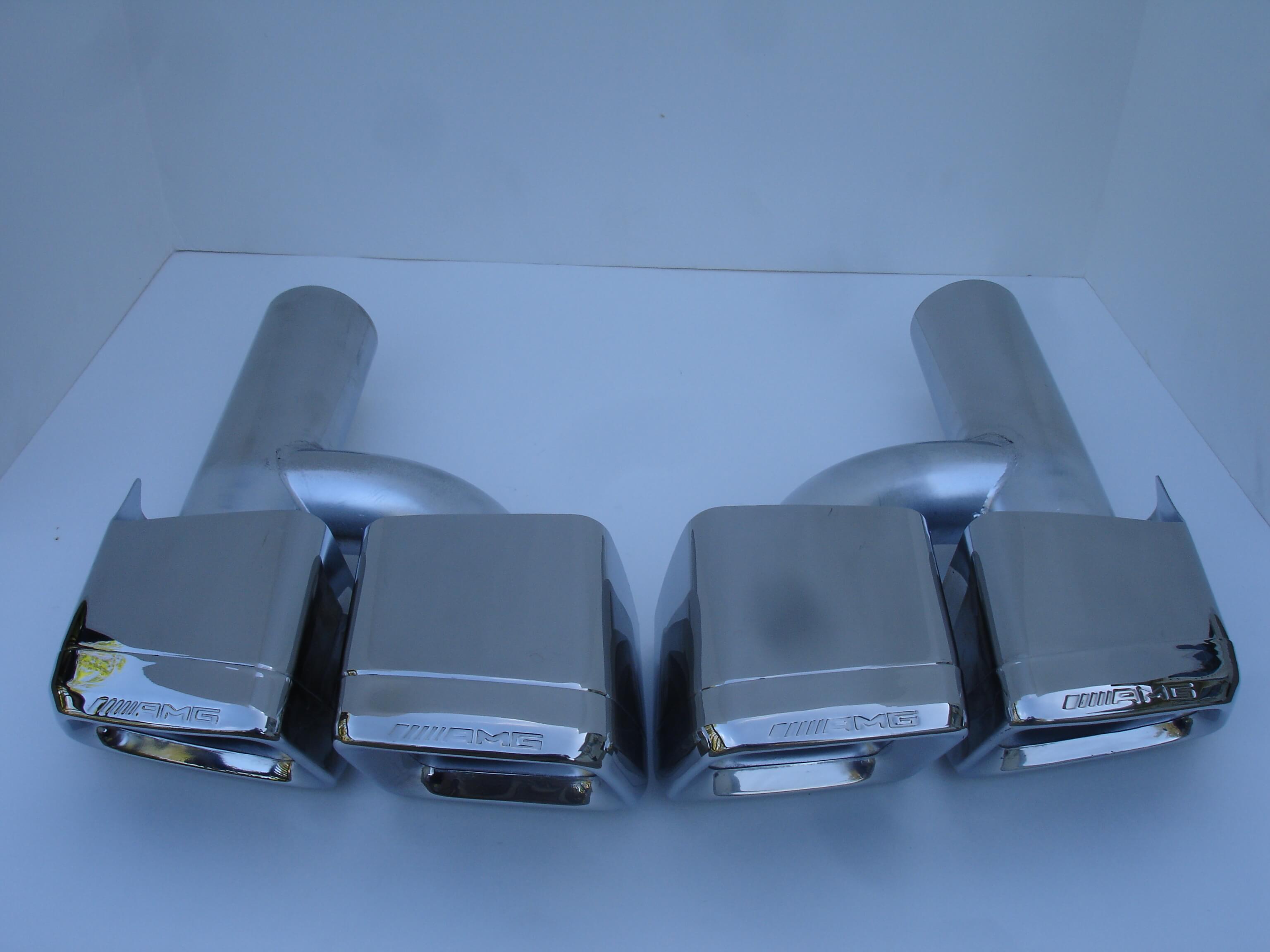 Mercedes Benz E63 AMG Style Exhaust Tips W212 C207 E Class E300 E350 E500 09-12