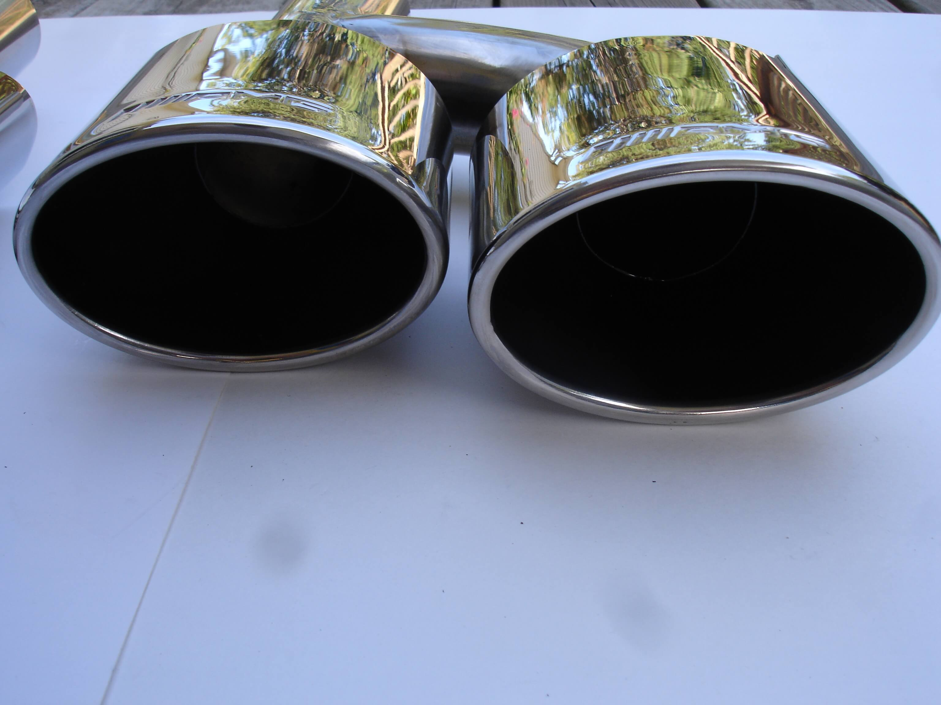 Mercedes Benz C63 AMG Style Exhaust Tips W204 C Class C63 C300 C350 08-12