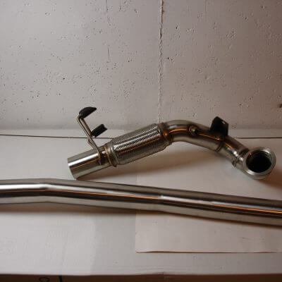 "VW Down Pipes for the MK7 Golf R 2.0L EA888 TSi. Pipe Diameter is 3.00"". Pipes is made of T304 SS."