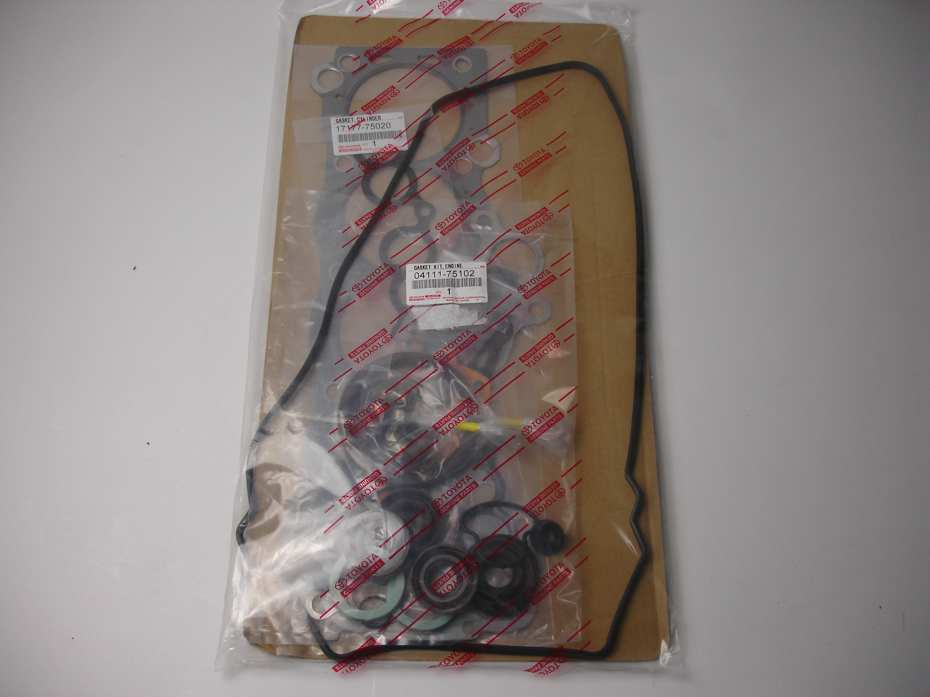 Up for sale is a Toyota OEM engine overhaul gasket kit for a 3RZ-FE 2.7L. OEM part number 04111-75102
