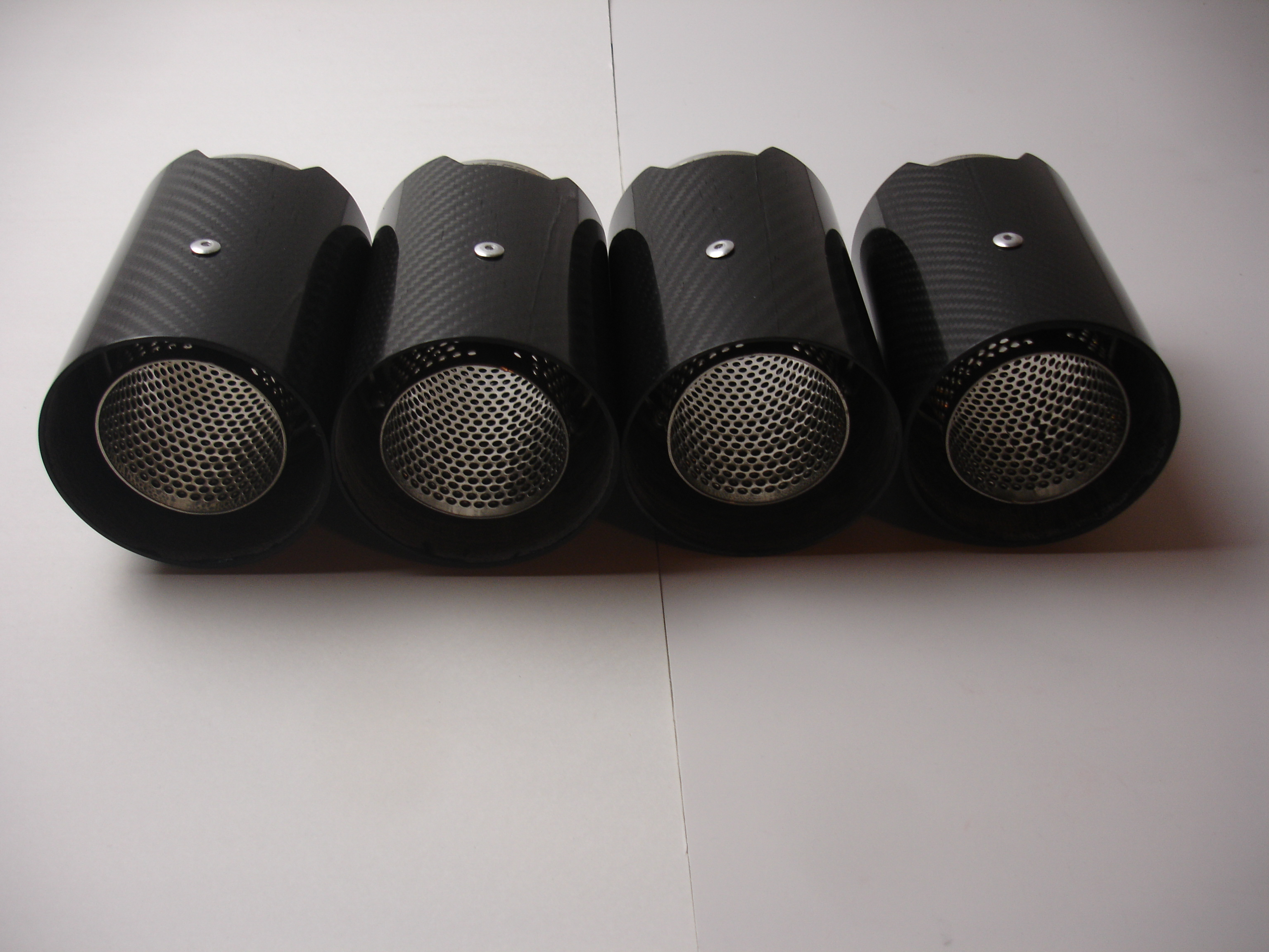 BMW M1 M2 M3 M4 M5 M6 Carbon Fiber Exhaust tip's (4) 1 2 3 4 5 6 7 8 Series